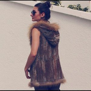 Love Token Real fur vest